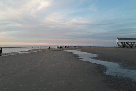 Nordsee mit Sonnenuntergang